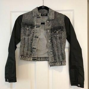 NWOT Brandy Melville denim and wax coat jacket